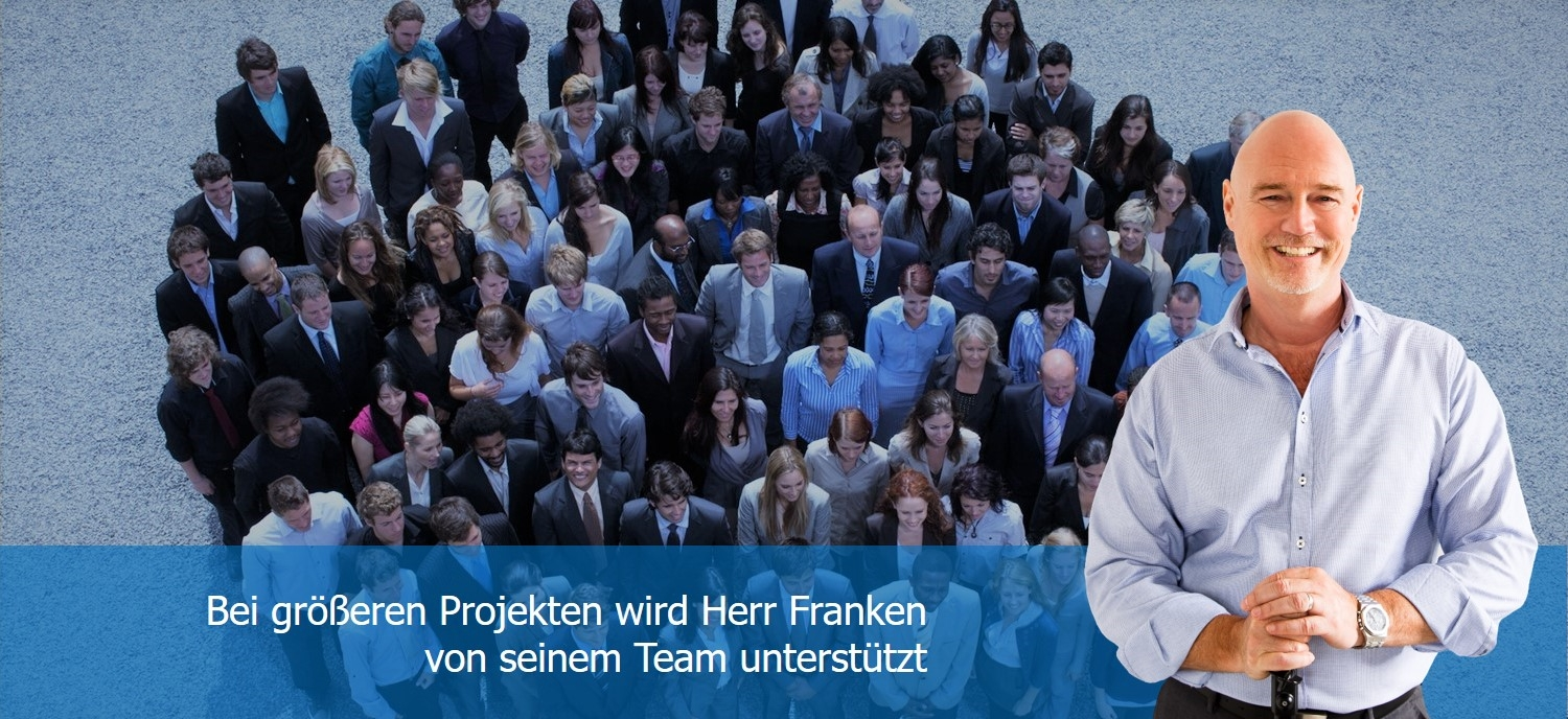 Andreas Franken Consulting Unternehmensberatung Strategie, Marketing, Vertrieb, Beraterprofil mit Team