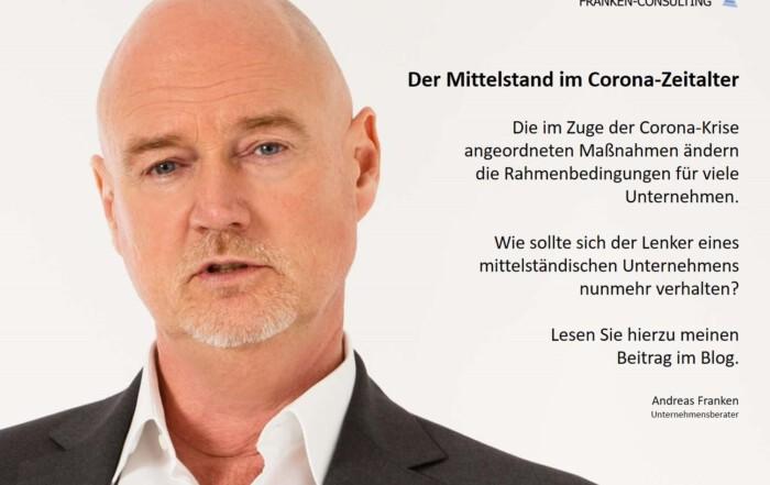 FRANKEN-CONSULTING Unternehmensberatung Strategie, Marketing Vertrieb Corona Digitalisierung