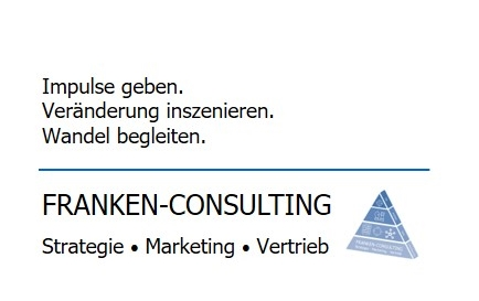 FRANKEN-CONSULTING Unternehmensberatung Strategie, Marketing, Vertrieb, Digitalisierung, Pricing, Organisation