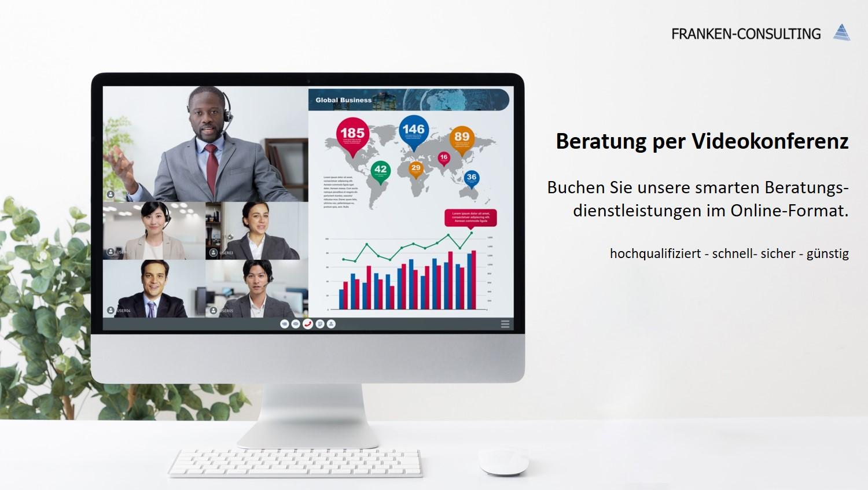 Franken-Consulting Unternehmensberatung Beratertelefon Videokonferenz