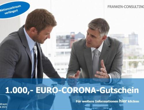 1000,- EURO-CORONA-Gutschein