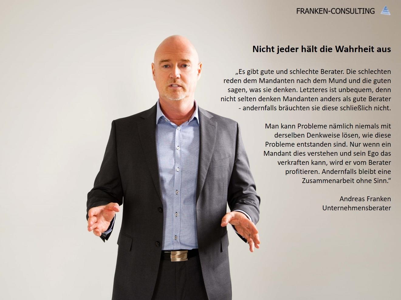 Franken-Consulting Unternehmensberatung, Vertrieb, Vertriebsberatung