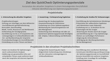 Franken-Consulting Unternehmensberatung Quick Check Optimierungspotenziale Franken-Consulting